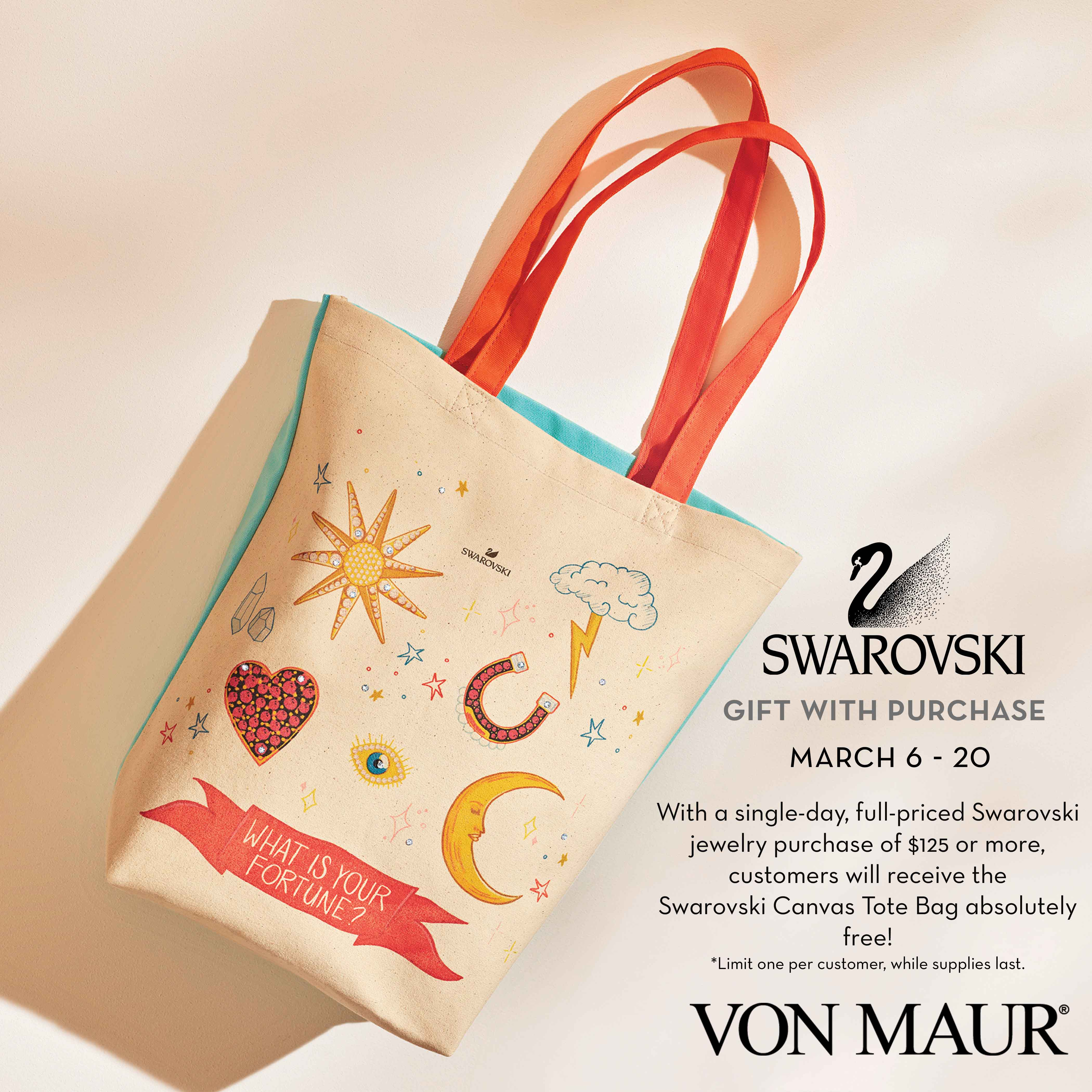 Swarovski Canvas Tote Bag Gift With Purchase