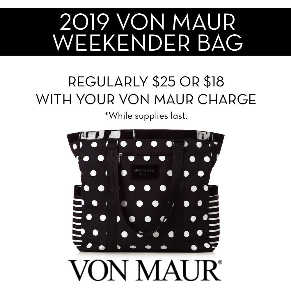 Von Maur 2019 Weekender Bag